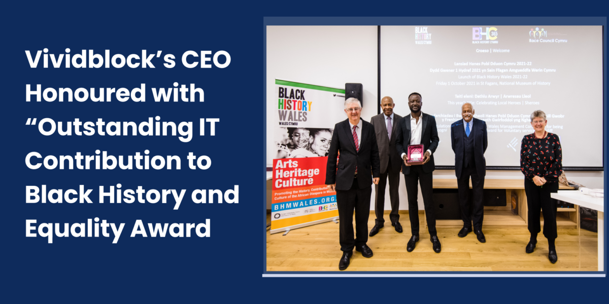 vividblock ceo honoured with outstanding it contribution to black history and equality award